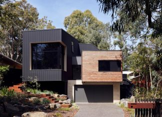 Blackburn modular family home nestled amongst the gums and designed by ArchiBlox