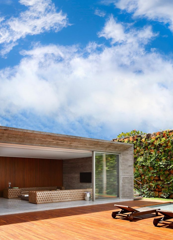 House In Brazil Divided Into Three Blocks Specially