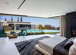 Beverly Hills Bachelor Pad by HSH Interiors: a luxurious midcentury Los Angeles residence combining contemporary architecture and retro elements