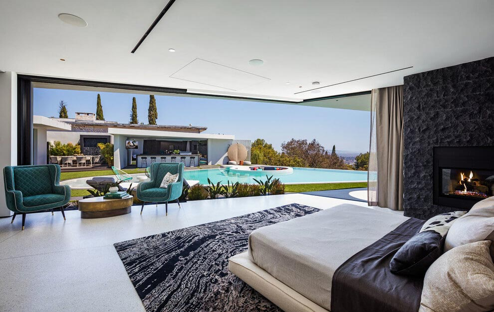 a luxurious midcentury Los Angeles residence combining contemporary ...