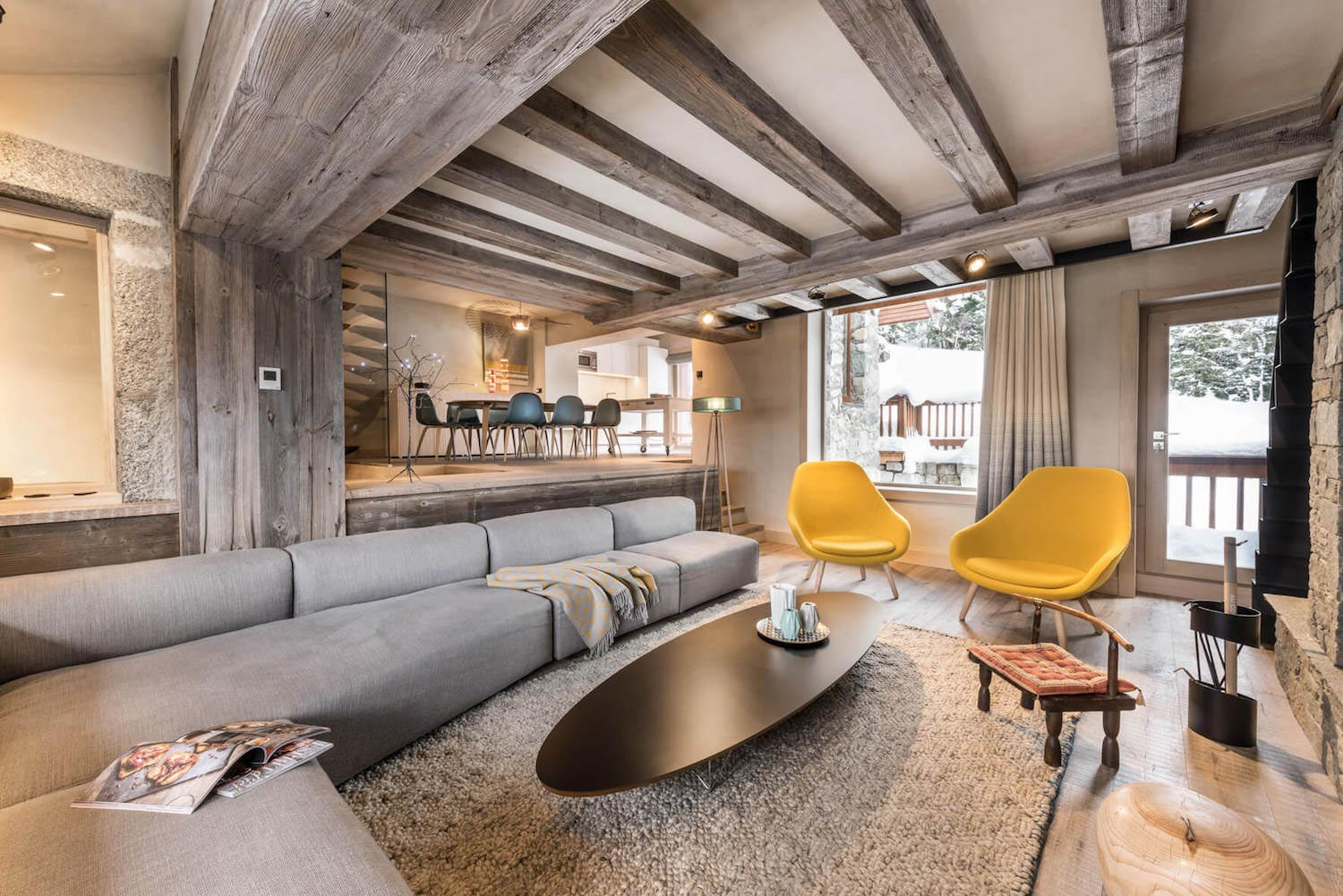 Méribel Chalet Mixes Well The Traditional Look Of An