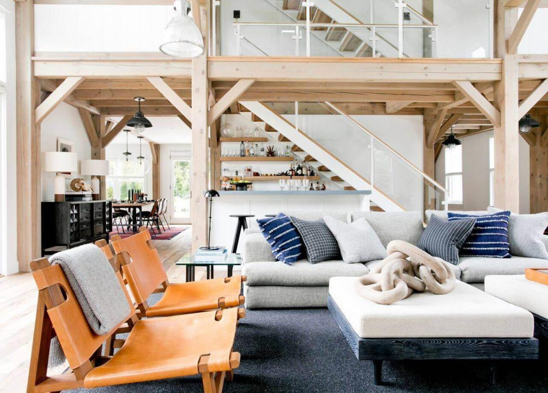 North Haven chic barn style residence by Timothy Godbold