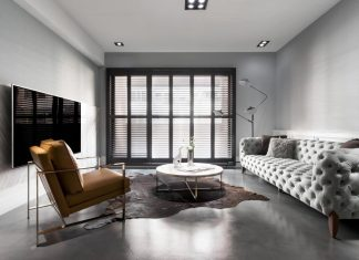 Old apartment in Taichung City gets an American style interior but mixed with a modern look
