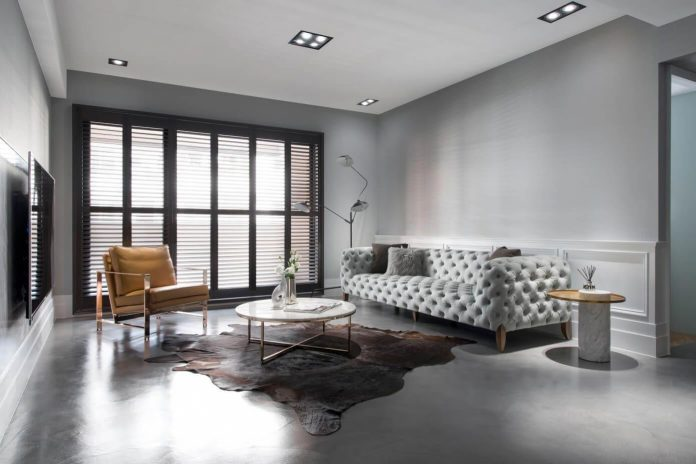 Old apartment in taichung city gets an american style for American style interior design