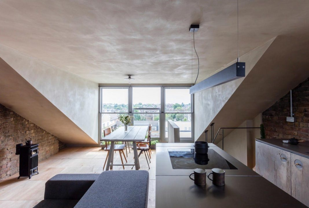 Redesign of an apartment in london keeping the existing for Redesign office space