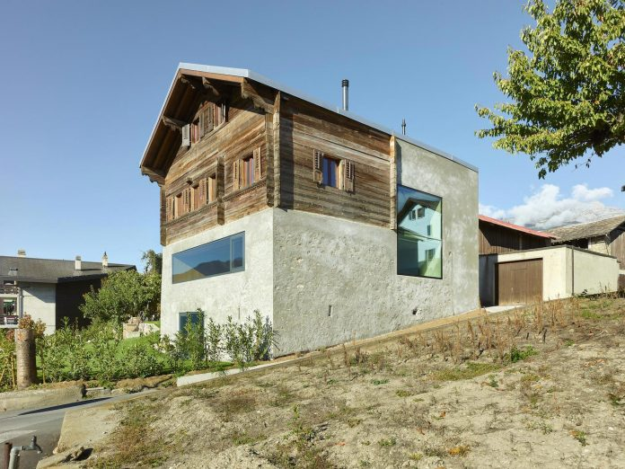 Rustic simplicity with modern touches of this 1860 house in the village of Ormône, Switzerland
