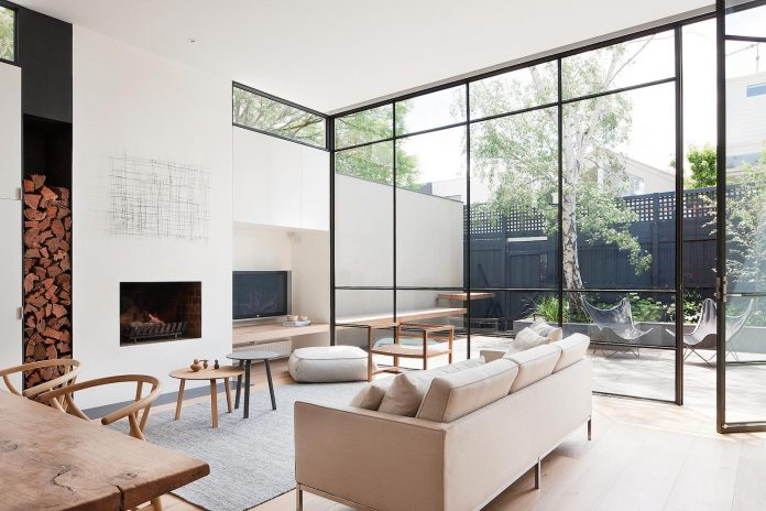 Simple design that creates a subconscious sense of flow and balance within the space