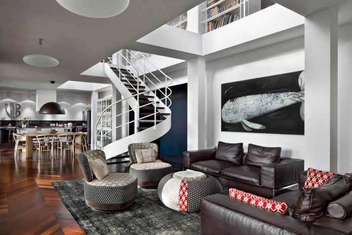 How To Use The Double Height Ceiling Of A Penthouse In A