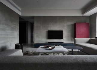 Widely used gray-level materials in the Boundary Apartment designed by Wei Yi International