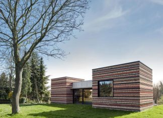 222_Brutalistic concrete house with soft knitted brick cores in Landen, Belgium by AST77