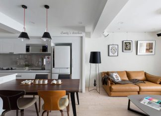 Example of what can be done with a limited space in order to create an complete apartment