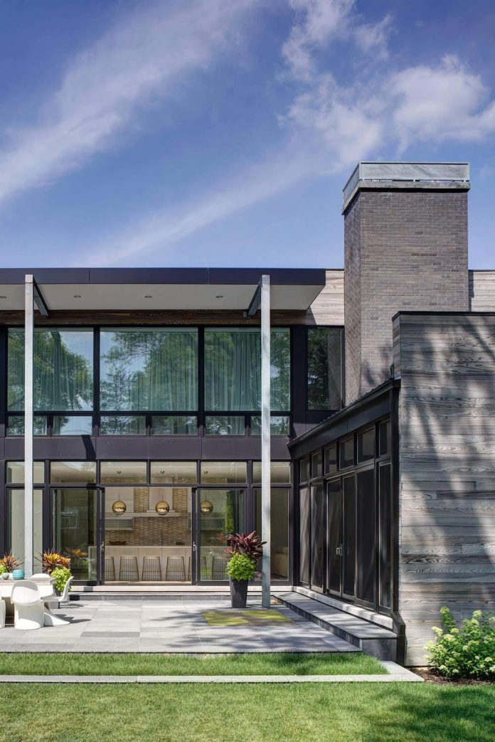 Modern Two Storey House Design With Terrace: Modern Two-story Single Family House Is Located In The
