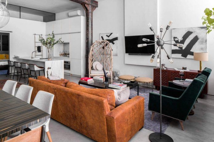 Contemporary Industrial Design noho loftmotiani design, an contemporary industrial home