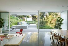 Oasis that focused more on a sense of privacy and introspection rather than maximizing views