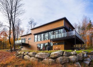 Open-concept main floor of an energy efficient steel structure home by BONE Structure®