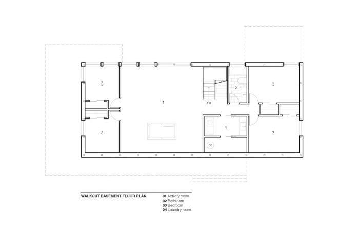 Open Concept Main Floor Of An Energy Efficient Steel