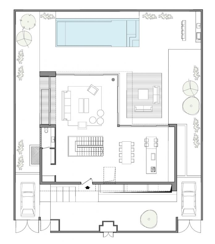Stunning design for a l shaped house located in israel - X shaped house plans stunning views ...