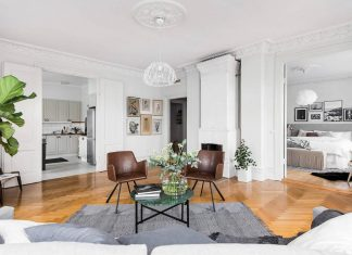 How does a typical Scandinavian apartment looks like, this a clean bright apartment in Gothenburg