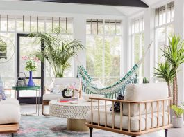 The Yoon colorful home in Larchmont, New York designed by colorTHEORY Boston