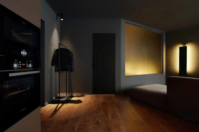 Dark Apartment Design With An Example Of Minimalism In Interior Design Caandesign Architecture And Home Design Blog