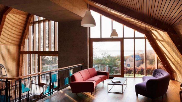 A house of originality and delight with a configuration which allows interconnected volumes rather than rooms