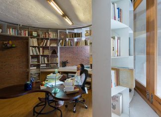 The Lib house that belongs to a 80 years old couple designed for both workplace and living space