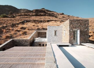 "Stone house in Greece built trough a traditional method called ""kotounto"""