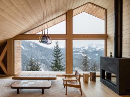 Stunning mountain house built in a valley which offers very little freedom of architectural expression