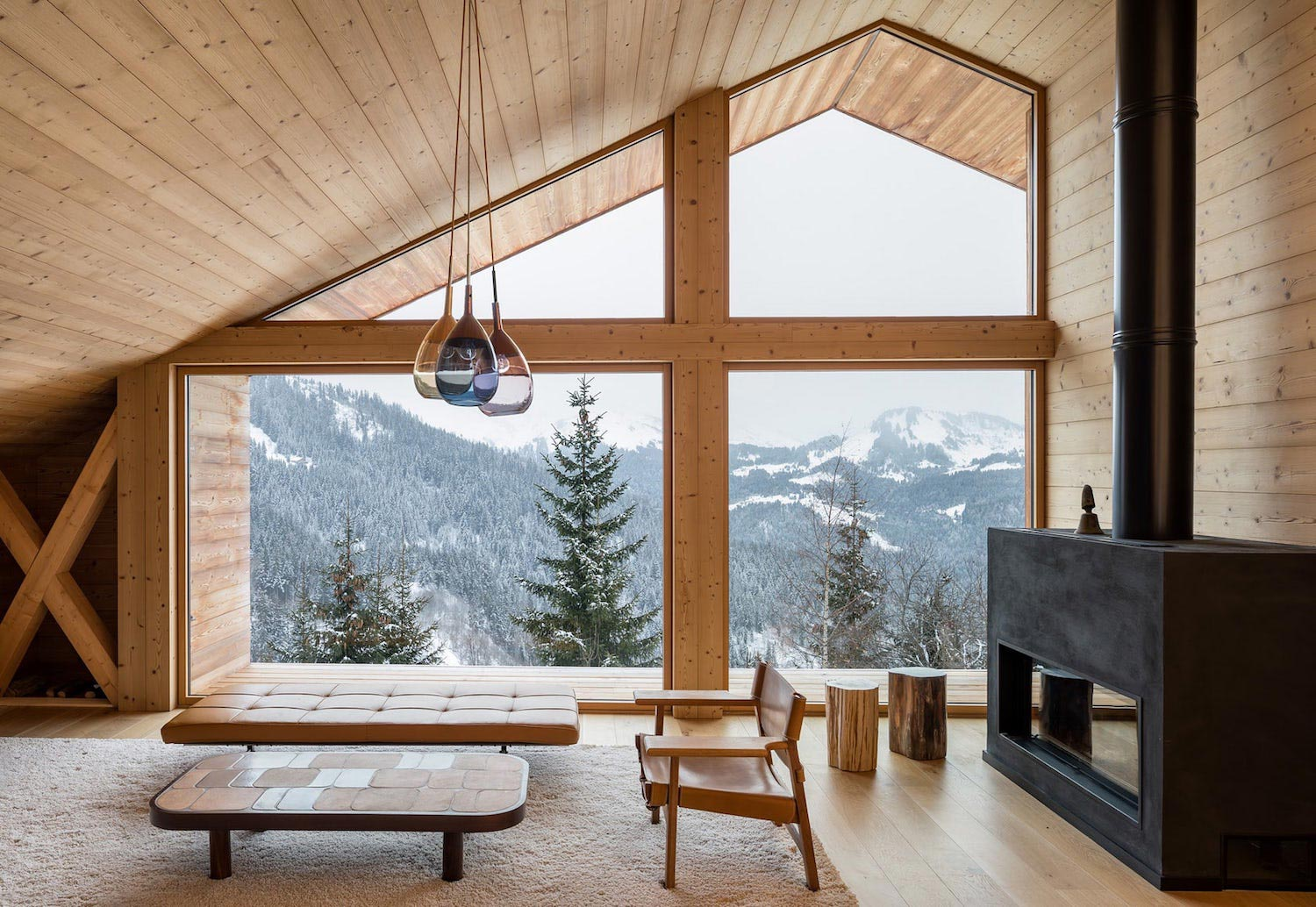 Stunning mountain house built in a valley which offers for Architectural designs for chalets