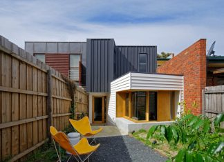 Tang House by 4site Architecture: redesign and renovation of a single fronted double brick terrace house in Carlton