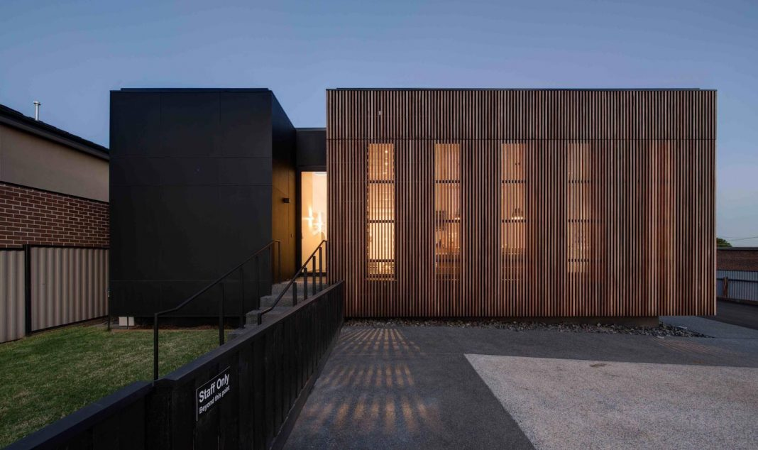 Wallan Veterinary Hospital designed to provide a calming and airy interior with a sense of flow and connection between zones