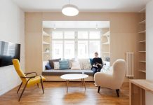 Apartment with the whole interior designed in light natural colour tones