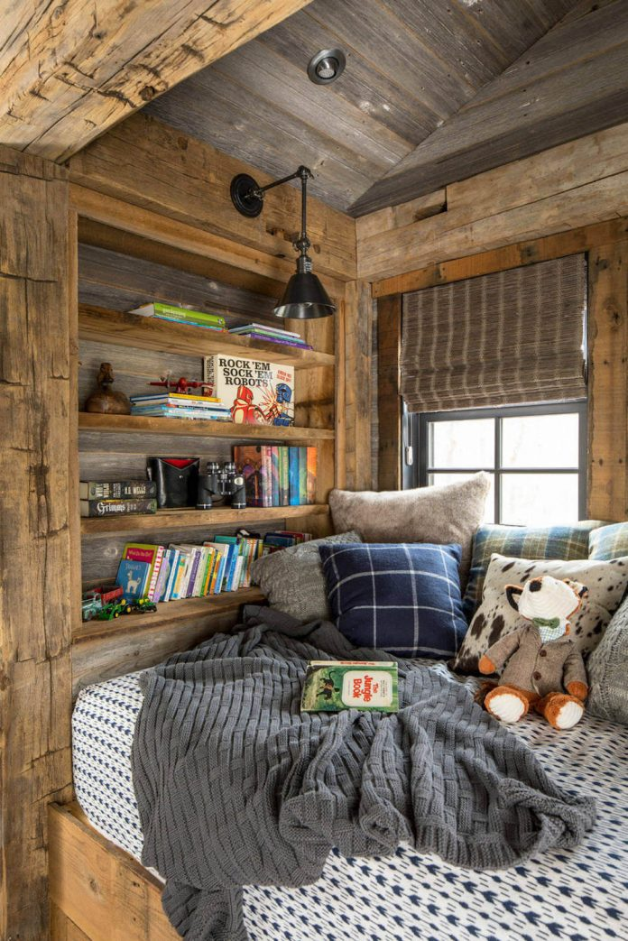 Rustic Kids Bedrooms 20 Creative Cozy Design Ideas: Beautiful Cottage Located In Woodland Shores Designed By