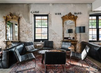 Boutique hostel, bar, cafe, and event space designed to create something that feels timeless