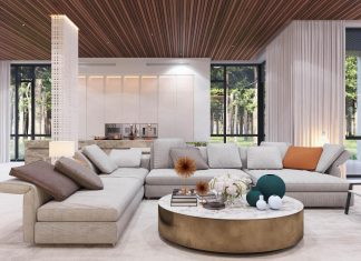Contemporary villa with bright interior by Shamsudin Kerimov