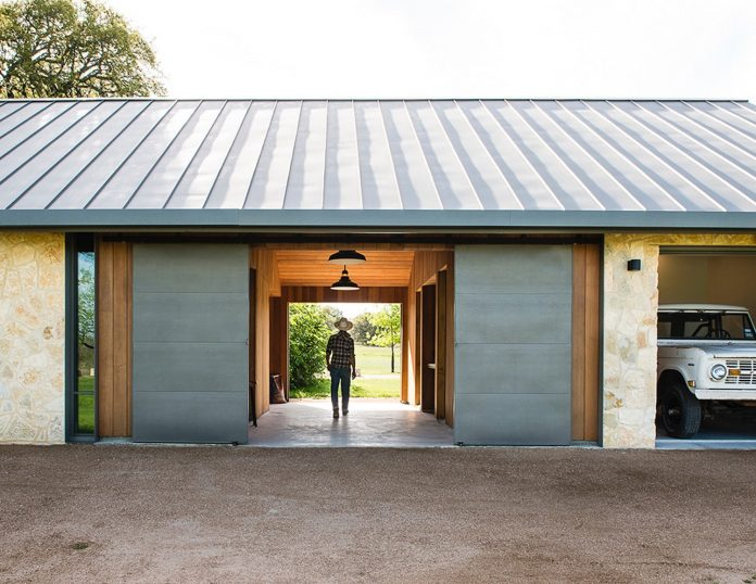 The Barn Is Organized Around A Breezeway That Separates Car Garage From Greenhouse And Smaller ATV Serves As Work Space