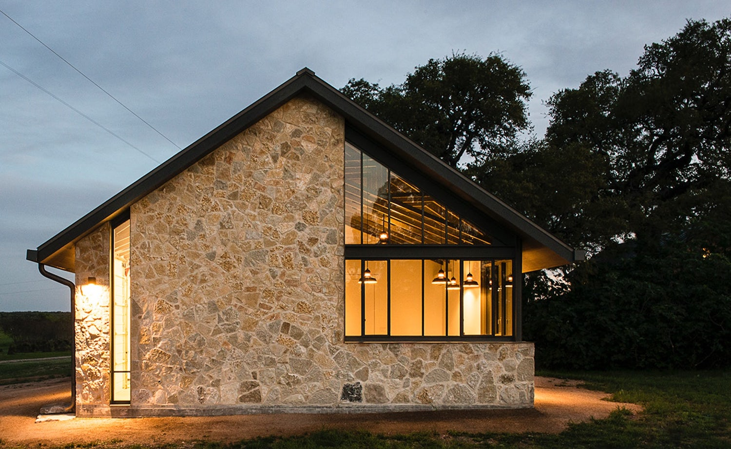 Modern barn which is the companion building to a small for Modern barn design