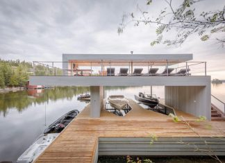 Spectacular design of the Boathouse for day and night time lounging and entertainment