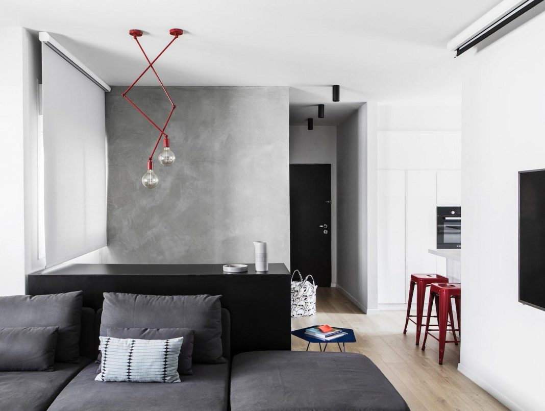 The design of a duplex which creates a sense of a young contemporary ...