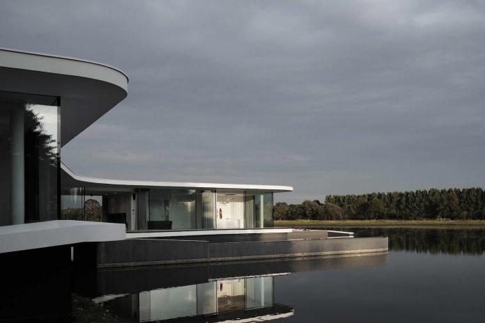 House Mainly Built With Raw Materials With Its Swimming