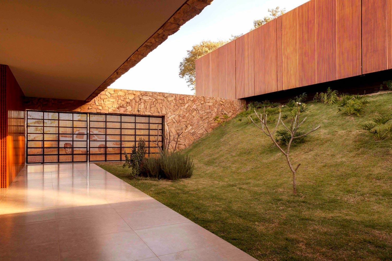 Stunning Stone House Creates Organic Interaction Nature