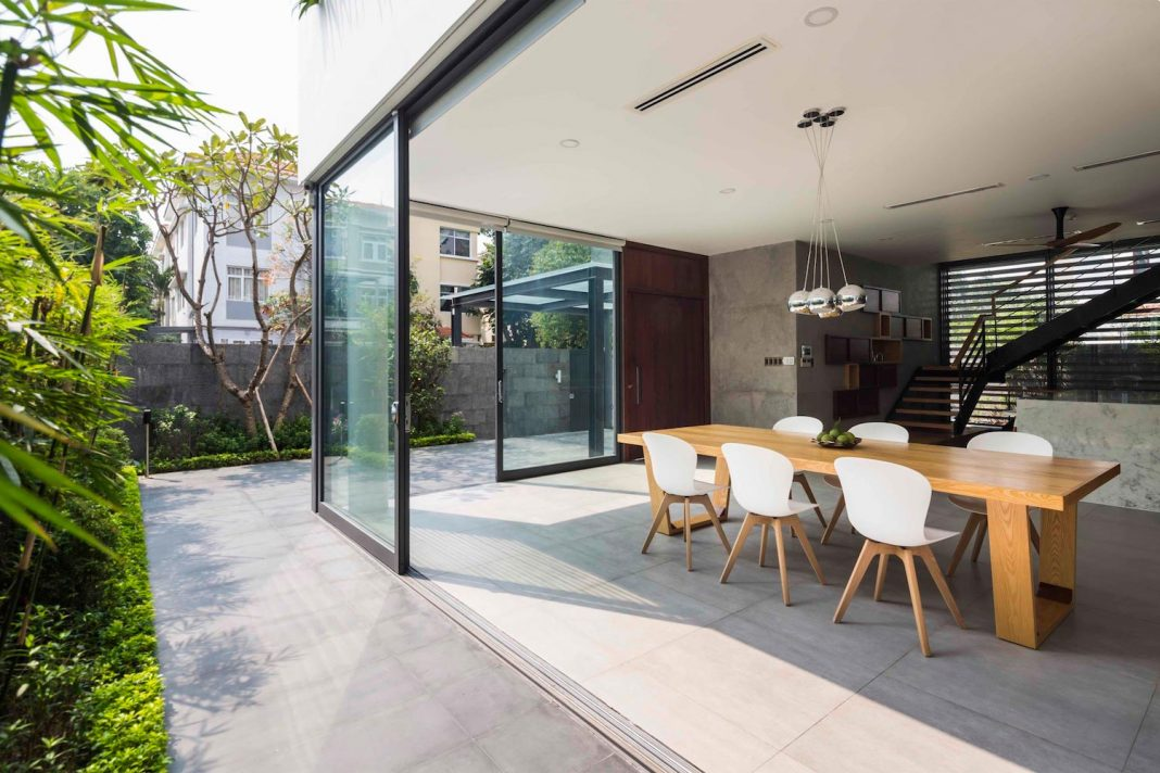 The White Cube House Located In A Residential Area In