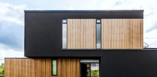 Wooden villa located not far from Copenhagen, Denmark