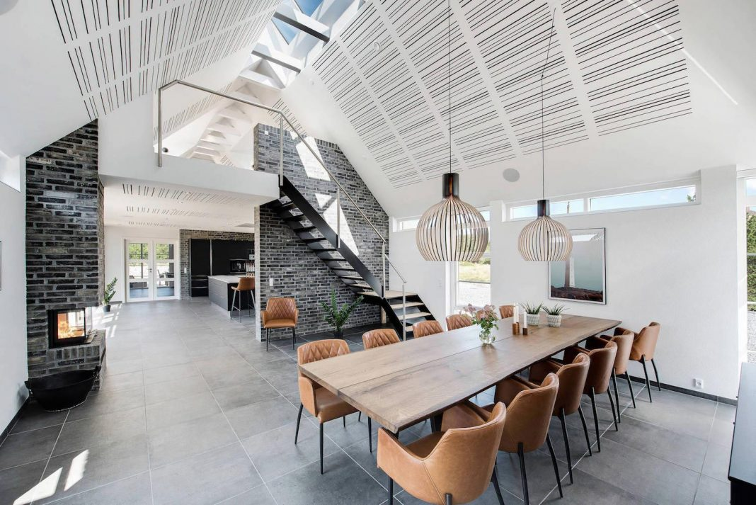 Inspiring contemporary bright barn style house located in Blåvand, Denmark