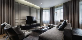 Versatile environment with cozy atmosphere of an apartment in Russia