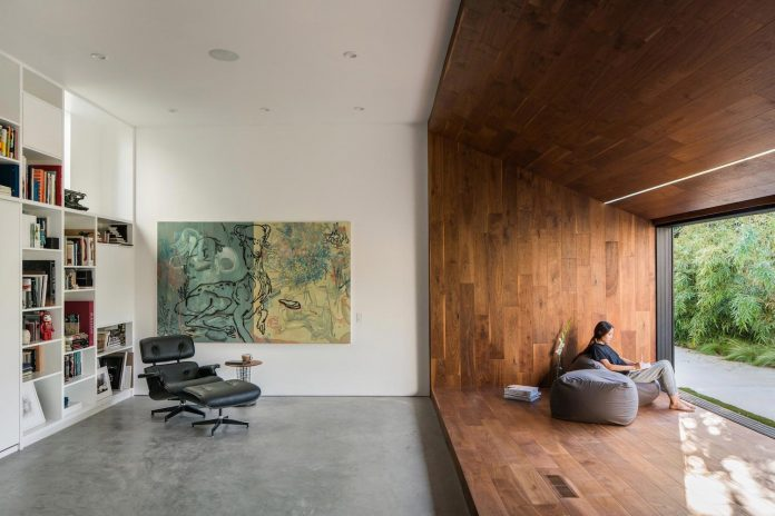 Hide Out By Dan Brunn The Home Features An Open Floor Plan To