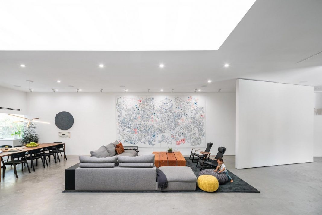 Hide Out by Dan Brunn: the home features an open floor plan to blur the lines between spaces