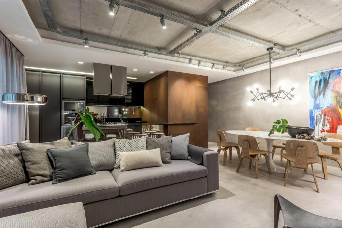 Industrial styled, young and modern place designed with the aim to create also flexibility and integration