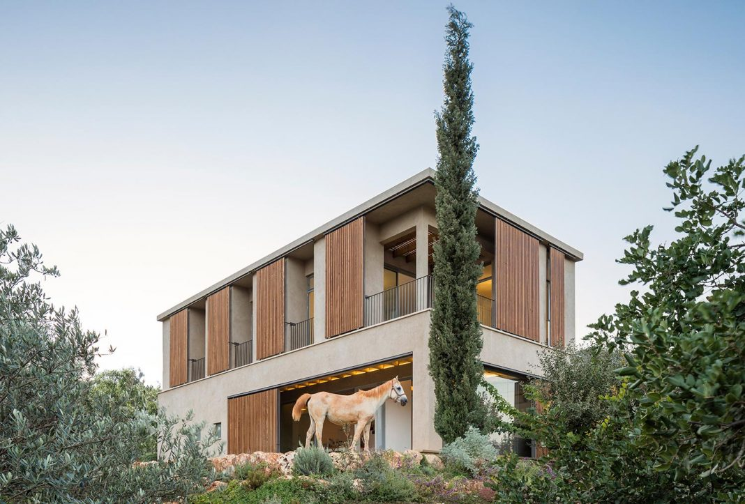 Residence in the Galilee designed with the desire to embrace and engage with the ancient landscape