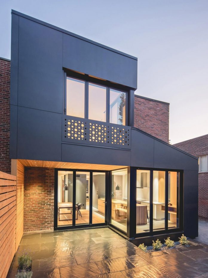 Semi Detached Townhouse Made Of Red Clay Brick And Blond